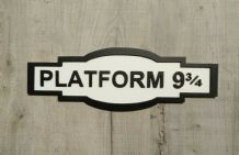 hogwarts platform 9 3/4 railway station sign harry potter plaque wall art